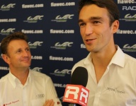 RACER: Allan McNish and his protege Harry Tincknell