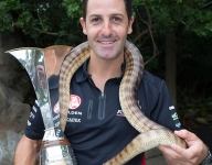 V8 Supercar: Whincup bitten by snake in PR event
