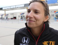 RACER: Simona de Silvestro on her fire at Indy