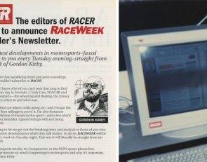 RACER@25: How RACEWEEK begat RACER.com