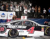 Harvick gains redemption with Atlanta win