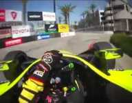 IndyCar Visor Cam: Bourdais at Long Beach