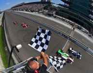 Herta holds off O'Ward for Freedom 100 win