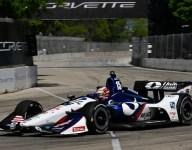 Rahal's Detroit win streak ends with hard crash