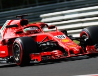 Ferrari's Giovinazzi tops opening day of Hungary test