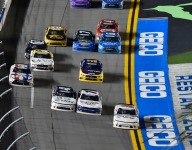 Larson edges Sadler for Daytona Xfinity win in wild finish