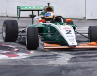 VeeKay untroubled during chaotic Pro Mazda Race 1 in Toronto