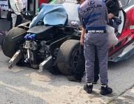 3GT Lexus suffers heavy damage in Road America warmup crash