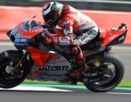 Lorenzo edges Dovizioso for Silverstone pole; Rabat injures leg