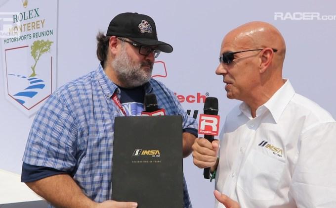 RACER video: IMSA 50th Anniversary book launch