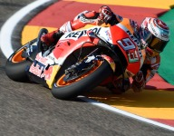 Marquez resists Ducati charge in Aragon practice