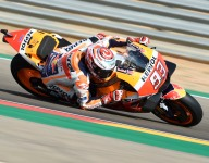 Marquez streaks to Aragon win after Lorenzo crashes out