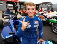 Monger takes British F3 pole in Donington return