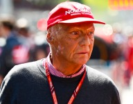 Lauda hospitalized with flu