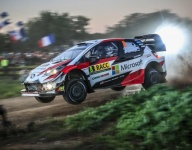 Tanak extends lead ahead of a tight battle for second in Spain