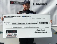 Ensor sweeps Spec MX-5 Challenge weekend, claims $100,000 prize