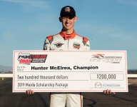 McElrea wins Mazda Road to Indy USF2000 $200K Scholarship Shootout