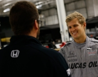 Ericsson enthused after first IndyCar test