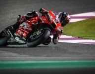 Petrucci tops MotoGP test times at the mid-point on day 2 in Qatar