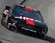 Bowyer again on top in final Cup practice, as Kyle Busch crashes