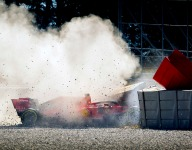 Vettel crash investigation complicated by heavy damage