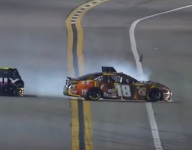 Johnson takes blame for spinning Kyle Busch in first Duel