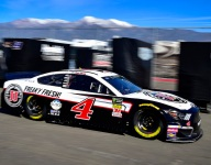 Harvick quick in Saturday morning Cup practice