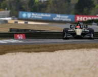 Hinchcliffe fast again in third Barber practice