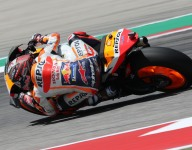 Marquez bests Rossi for COTA MotoGP pole