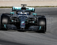 Bottas fastest, Ilott crashes during Barcelona testing