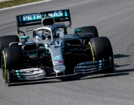 Mazepin leads F1 testing on Mercedes debut despite causing red