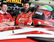 Suarez stays on top in third practice at Charlotte