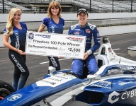 Megennis leads Andretti team sweep of Freedom 100 qualifying