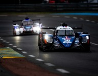 LM24 Hour 14: Spots of rain as the hour closed ...
