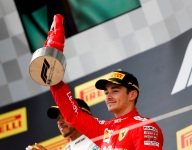 Leclerc surprised by late charge at Bottas