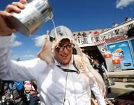 Chocolate milk flows to celebrate Mazda breakthrough win