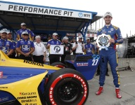 Rossi rockets to Detroit Race 1 pole