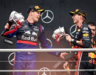Shock podium comes hours after birth of first child for Kvyat