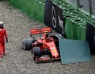 Leclerc clarifies track run-off criticism after crash