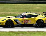 Garcia's Corvette fast at hot Lime Rock