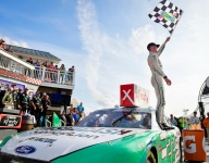 Cindric gets first Xfinity victory in a duel at The Glen
