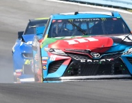 Run-ins, speeding penalty highlight 'eventful' afternoon for Kyle Busch