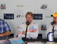 McLaren past and present in Monterey, with Hakkinen and Brown