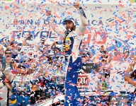 Elliott rallies from crash to win elimination race at Charlotte Roval