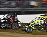 Larson wins wild Stoops Pursuit Race on IMS dirt