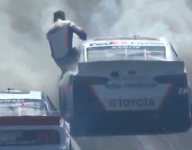 """""""It was big for sure,"""" Hamlin says of Indy wreck"""