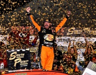 Truex surges to victory in playoff opener at Las Vegas