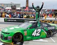 Winless streak ends in style for Larson on the Monster Mile