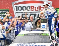 Blaney advances in playoffs with narrow Talladega win