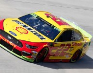 Logano leads opening Dover practice